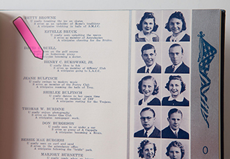 Charles Bukowski's High School Yearbook. Poetry and Rare Books in the Special Collections, Capen Hall.