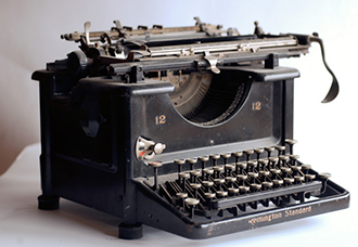 University Archives, Francis Striker Collection typewriter