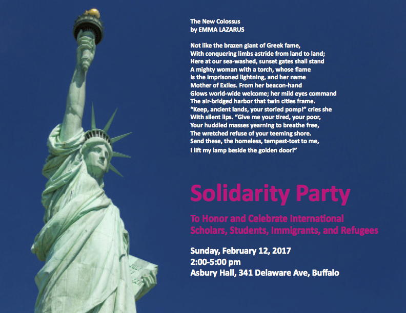 solidarity party celebrate international scholars students immigrants refugees