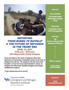 Burma to Buffalo event poster