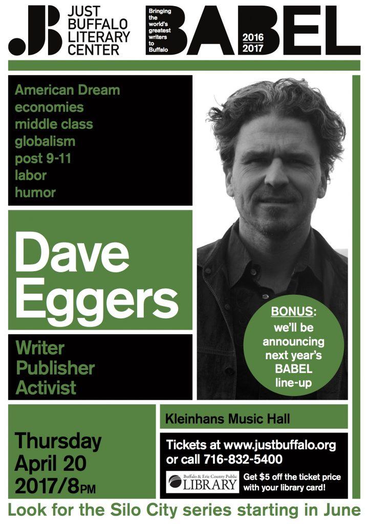 Just Buffalo Babel Dave Egger poster