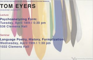 Tom Eyers lecture and seminar poster