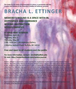 Ettinger seminar poster
