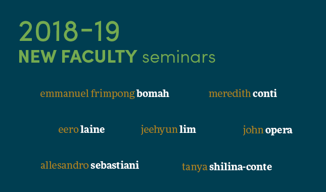 2018-19 New Faculty Seminars