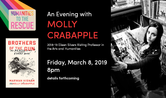 Humanities to the Rescue Evening with Molly Crabapple March 8, 2019 details forthcoming