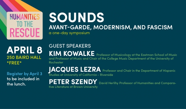 Sounds Avant-Garde Modernism and Fascism a one-day symposium April 8